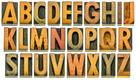 Press logo origin of english alphabet