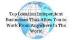 Press logo that allow you to work from anywhere in the world